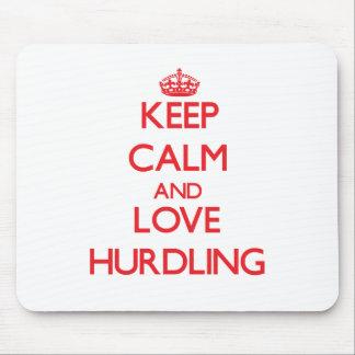 Keep calm and love Hurdling Mousepads