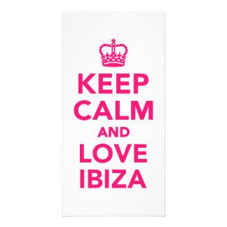 Keep calm and love Ibiza Customized Photo Card