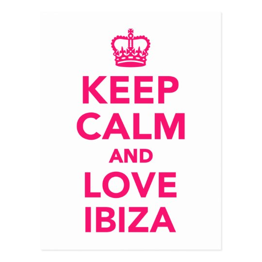 Keep calm and love Ibiza Postcard