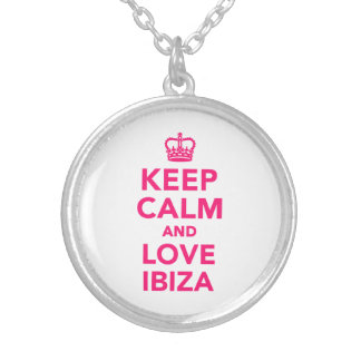 Keep calm and love Ibiza Round Pendant Necklace