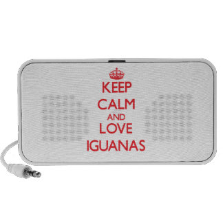 Keep calm and love Iguanas PC Speakers