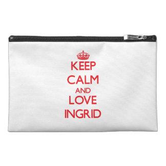 Keep Calm and Love Ingrid Travel Accessories Bag