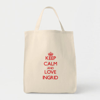 Keep Calm and Love Ingrid Canvas Bags