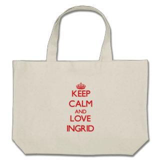 Keep Calm and Love Ingrid Tote Bag