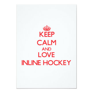 Keep calm and love Inline Hockey Invitations