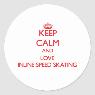 Keep calm and love Inline Speed Skating Sticker