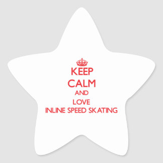 Keep calm and love Inline Speed Skating Star Sticker