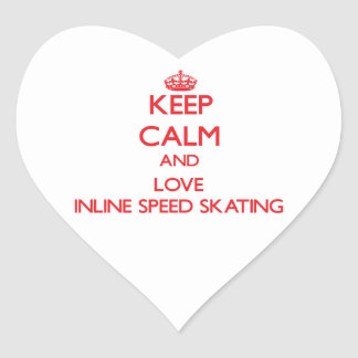 Keep calm and love Inline Speed Skating Stickers