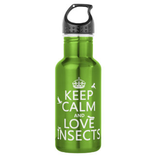 Keep Calm and Love Insects (any background colour) 532 Ml Water Bottle
