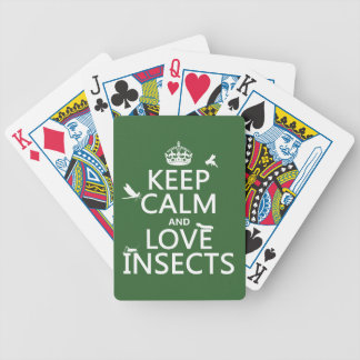 Keep Calm and Love Insects (any background colour) Bicycle Playing Cards