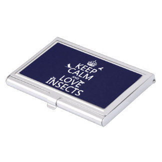Keep Calm and Love Insects (any background colour) Business Card Holder