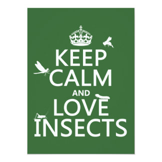 Keep Calm and Love Insects (any background colour) Card