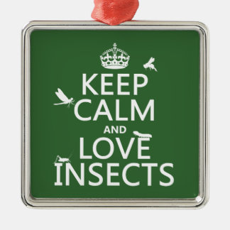 Keep Calm and Love Insects (any background colour) Christmas Ornament