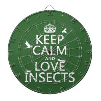 Keep Calm and Love Insects (any background colour) Dartboard
