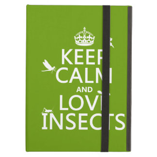 Keep Calm and Love Insects (any background colour) iPad Air Cover