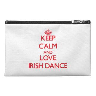 Keep calm and love Irish Dance Travel Accessory Bags