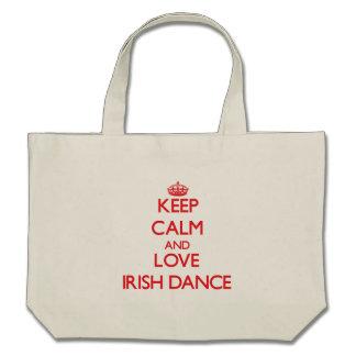 Keep calm and love Irish Dance Canvas Bag