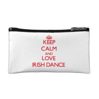 Keep calm and love Irish Dance Cosmetics Bags