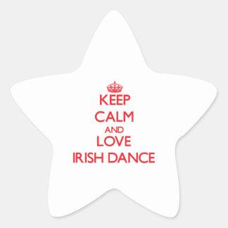 Keep calm and love Irish Dance Star Sticker
