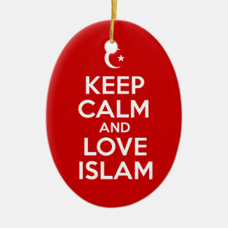 Keep Calm and Love Islam Christmas Ornament