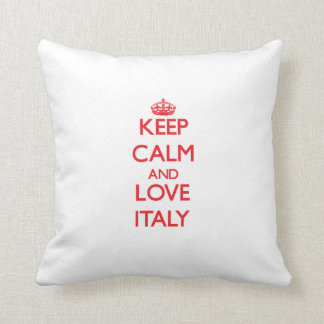 Keep Calm and Love Italy Throw Pillow