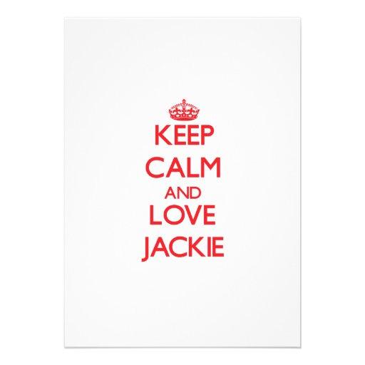 Keep Calm and Love Jackie Invitations