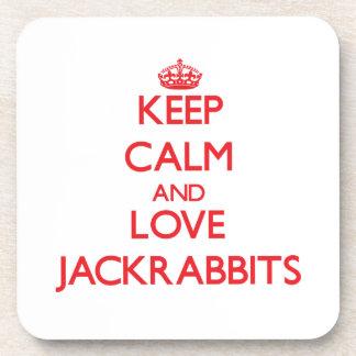 Keep calm and love Jackrabbits Drink Coaster