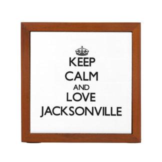 Keep Calm and love Jacksonville Desk Organisers