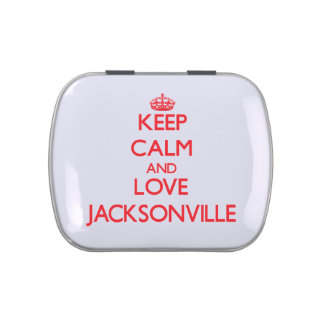 Keep Calm and Love Jacksonville Jelly Belly Tin
