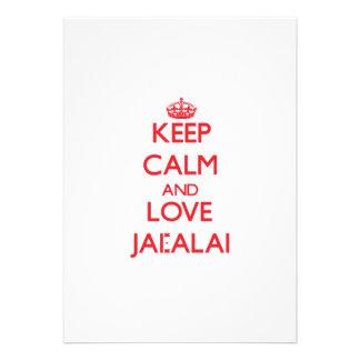Keep calm and love Jai-Alai Custom Invite