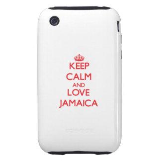 Keep Calm and Love Jamaica Tough iPhone 3 Covers