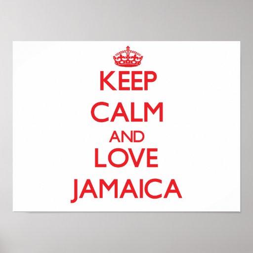 Keep Calm and Love Jamaica Print