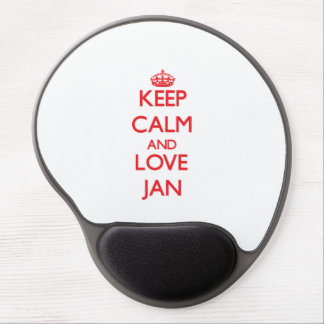 Keep Calm and Love Jan Gel Mouse Mat