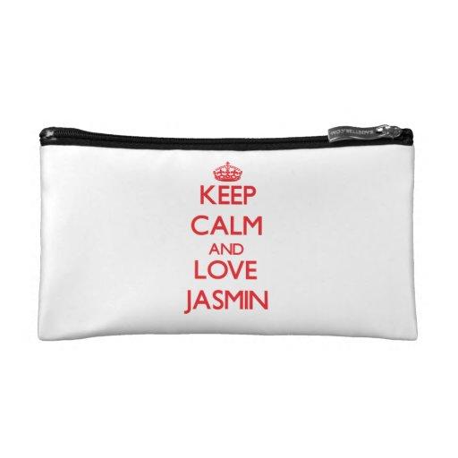Keep Calm and Love Jasmin Cosmetics Bags