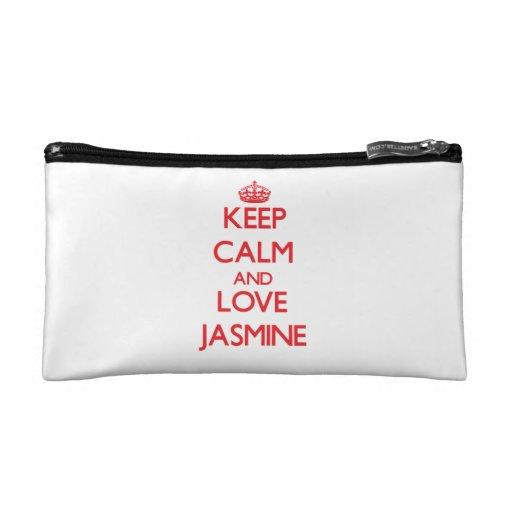 Keep Calm and Love Jasmine Cosmetics Bags