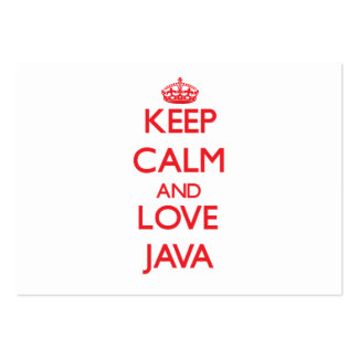 Keep calm and love Java Business Cards