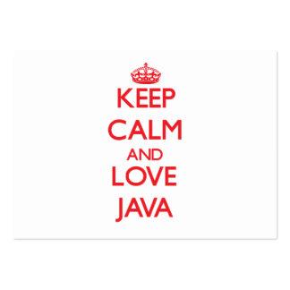 Keep calm and love Java Business Card Template