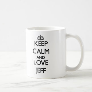 Keep Calm and Love Jeff Coffee Mugs
