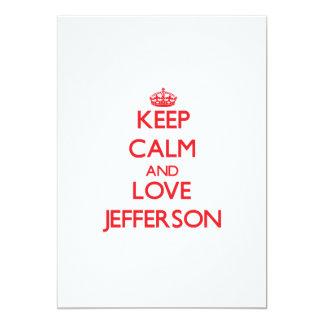 Keep Calm and Love Jefferson 13 Cm X 18 Cm Invitation Card