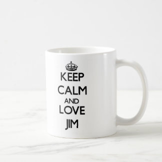 Keep Calm and Love Jim Mugs