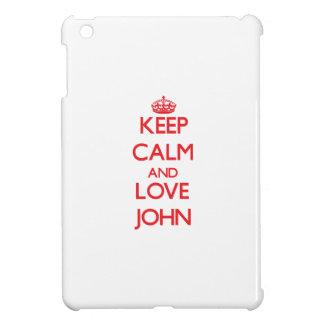 Keep calm and love John Case For The iPad Mini