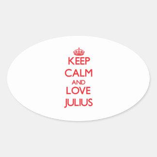 Keep Calm and Love Julius Sticker