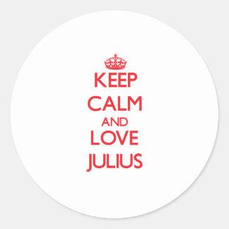 Keep Calm and Love Julius Round Sticker