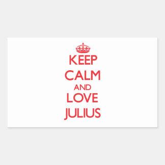 Keep Calm and Love Julius Rectangular Stickers