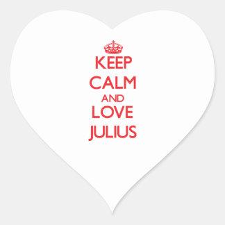 Keep Calm and Love Julius Heart Stickers