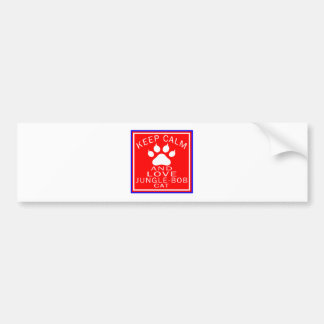 Keep Calm And Love Jungle-bob Bumper Sticker