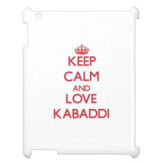 Keep calm and love Kabaddi iPad Cover