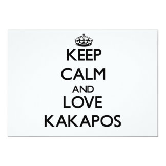 Keep calm and Love Kakapos 13 Cm X 18 Cm Invitation Card