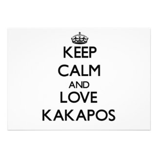 Keep calm and Love Kakapos Custom Announcement