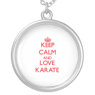 Keep calm and love Karate Personalized Necklace
